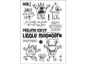 "Technique Tuesday Clear Stamps 4""X6""-Monsters Ink"