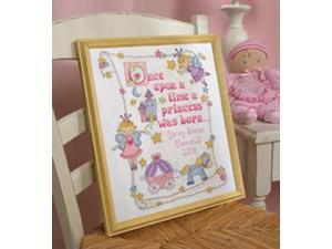 "Princess Birth Record Counted Cross Stitch Kit-10""X13"" 14 Count"