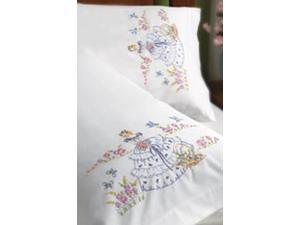 "Stamped Embroidery Pillowcase Pair 20""X30""-Garden Girl"