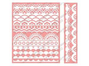 Cuttlebug A2 Embossing Folder/Border Set-Deco Scallops
