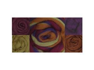 "Wool Roving 12"" .25 Ounce 8/Pkg-Fall Harvest Stripe"