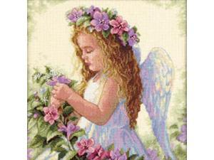"""Passion Flower Angel Counted Cross Stitch Kit-11""""X11"""""""