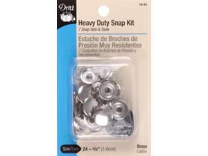 "Heavy Duty Snap Kit 5/8"" 7/Pkg-Nickel"
