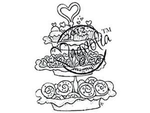 With Love Cling Stamp-Baked With Love