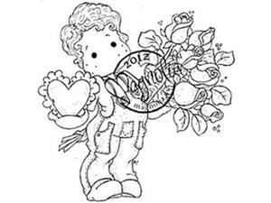 With Love Cling Stamp-Charming Edwin