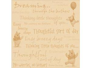 "Disney Winnie The Pooh Paper 12""X12""-Little Thoughts"