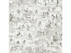 "Disney Paper 12""X12""-Mickey Cream Comic"