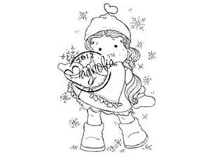 Special Cling Stamp-Tilda With Ribbon Heart Scarf