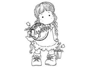 A Christmas Story Cling Stamp-Tilda With Tag Gifts