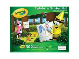 "Crayola Beginning Tablet 10""X8"" 30 Sheets-ABC's and 123's"