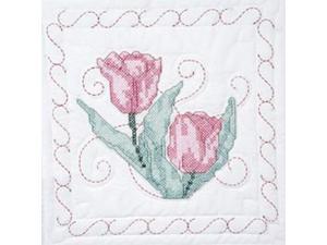 "Stamped Quilt Blocks 18""X18"" 6/Pkg-Tulips"