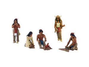 Native American Figurines 6/Pkg-