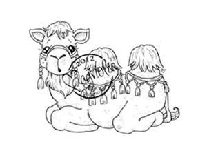 Nativity Cling Stamp-Jacob The Camel