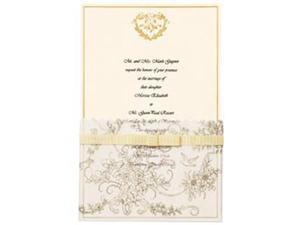 Invitation Kit 25/Pkg-Gold Wedding Toile