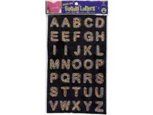 """Iron-On Sequin Letters 1"""" Block-Gold"""
