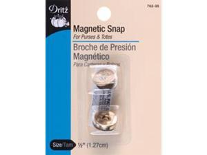 """Round Magnetic Snaps 1/2""""-Gilt"""