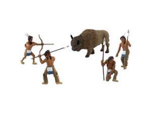 Native American Hunter Figurines 5/Pkg-