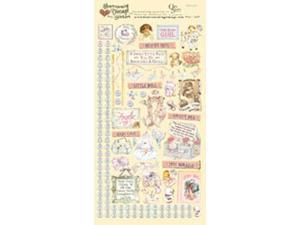 "Heartwarming Vintage Cardstock Stickers 6""X12""Sheet-Baby Girl"