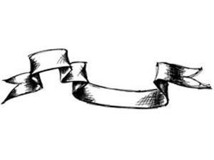 "Tim Holtz Red Rubber Stamp-Sketch Banner 1.5""X5"""