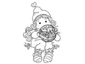 A Christmas Story Cling Stamp-Tilda With Saffron Buns