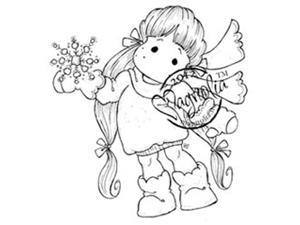 A Christmas Story Cling Stamp-Snowy Tilda