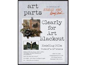 "Wendy Vecchi Clearly For Art Modeling Film Sheets 3/Pkg-Blackout, 8""X10"""