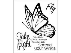 "Technique Tuesday Clear Stamps 2""X2.5""-Take Flight"