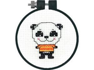 """3"""" Round 11 Count Learn-A-Craft Cute Panda Counted Cross Stitch Kit Dimensions 72-73705"""
