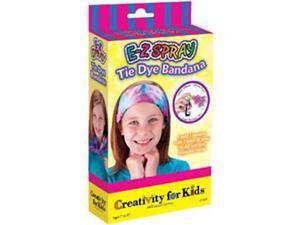 Creativity For Kids Activity Kits-E-Z Spray Tie Dye Bandana (makes 1)
