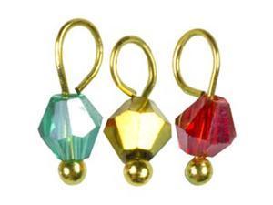 Tis The Season Glass/Metal Charms-Bicone W/Gold 30/Pkg