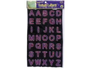 """Iron-On Sequin Letters 1"""" Block-Hot Pink"""