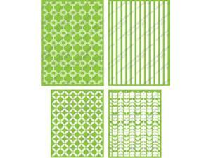 "Cuttlebug Embossing Folders 4/Pkg-James (2) 5""X7"" & (2) A2"