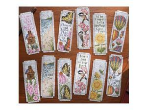 """Inspired By Nature Bookmarks Counted Cross Stitch Kit-2-1/2""""X8"""" 14 Count Set Of 12"""