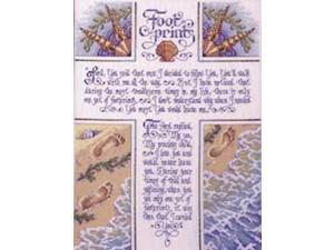"""Footprints Counted Cross Stitch Kit-10-1/2""""X14-1/4"""" 28 Count"""