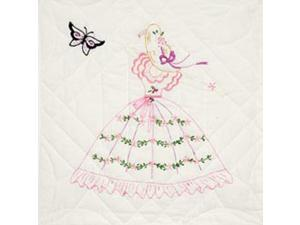 """Stamped Quilt Blocks 18""""X18"""" 6/Pkg-Butterfly Lady"""