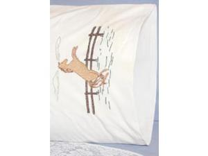 "Stamped Perle Edge Pillowcase 30""X20"" 2/Pkg-Horse"