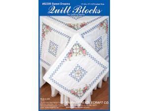 "Stamped Quilt Blocks 18""X18"" 6/Pkg-Sweet Dreams"