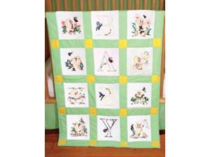 """Stamped Baby Quilt Blocks 18""""X18"""" 6/Pkg-Duck Baby"""