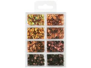 Cup Sequin Kit 7mm 25/Pkg-Box Of Chocolate