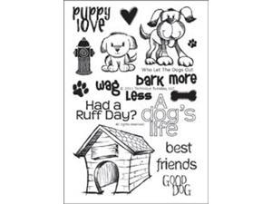 "Technique Tuesday Clear Stamps 4""X6""-Who Let The Dogs Out"