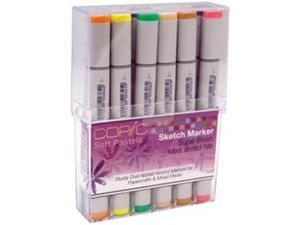 Copic Sketch Papercrafting Markers 12 Piece Set-Soft Pastels