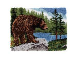"Classics Latch Hook Kit 20""X30""-Grizzly Bear"