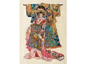 "Heirloom Collection Kimono Geisha Counted Cross Stitch Kit-10.3""X14"" 28 Count"