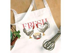 Rooster Apron Stamped Cross Stitch-