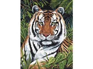 "Junior Small Paint By Number Kit 8-3/4""X11-3/4""-Tiger In Hiding"