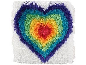 """Shaggy Latch Hook Kit 12""""X12""""-From The Heart"""