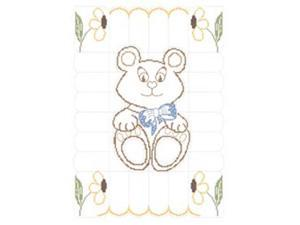 """Stamped Baby Quilt Top 36""""X50""""-Teddy Bear"""