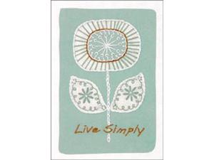 "Live Simply Crewel Kit-5""X7"" Stitched In Thread & Yarn"