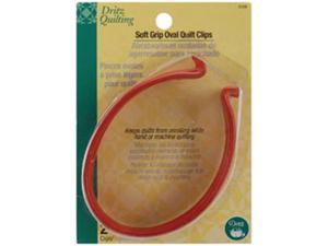 Dritz Quilting Soft Grip Oval Quilt Clips -2/Pkg