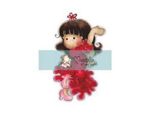 """Mini Turning Leaves Cling Stamp 2.75""""X5.75"""" Package-Tilda Learning To Dance"""